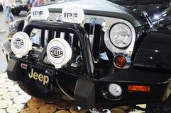 Parte anteriore del suv del sahara del wrangler della jeep Fotografia Stock