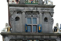 Parte anteriore del Westfries Musem che è alloggiato nel vecchio Statencollege Fotografia Stock