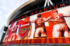 Parte anteriore dell'Emirates Stadium, casa dell'arsenale FC Immagine Stock