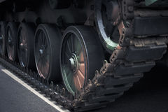 Parte anteriore dell'veicoli militari tehnical Fotografia Stock