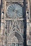 Parte anteriore della cattedrale di Strasburgo Fotografie Stock