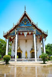 Parte anteriore della chiesa, Tailandia Immagine Stock