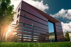 Parte anteriore della costruzione nazionale del forum di musica a Wroclaw Fotografia Stock