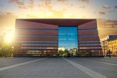 Parte anteriore della costruzione nazionale del forum di musica a Wroclaw Immagini Stock