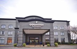 Parte anteriore della locanda del paese e dell'hotel delle serie, Wolfchase Memphis Fotografie Stock