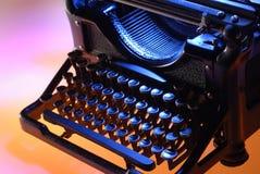 Parte anteriore della macchina da scrivere dell'annata Fotografia Stock Libera da Diritti