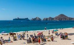 Parte anteriore della spiaggia di Cabo San Lucas Fotografia Stock