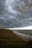 Parte anteriore della tempesta sopra acqua Immagine Stock Libera da Diritti