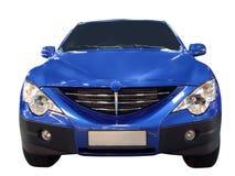 Parte anteriore di 4x4 blu SUV Fotografie Stock