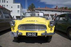 Parte anteriore di cabrio di Skoda Felicia Il festival delle automobili d'annata in Savonlinna finland fotografia stock libera da diritti