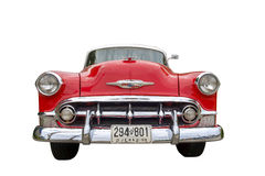 Parte anteriore di Chevrolet Bel Air 1953 isolata Immagini Stock