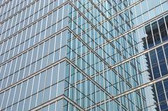 Parte anteriore di costruzione di vetro Fotografia Stock