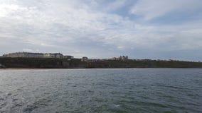 Parte anteriore di mare di Whitby Fotografia Stock
