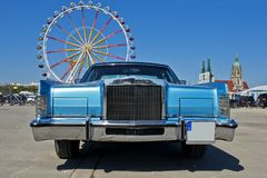 Parte anteriore di vecchia automobile di lusso, retro Fotografia Stock Libera da Diritti