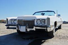 Parte anteriore di vecchia automobile di lusso, retro Fotografie Stock