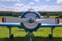 Parte anteriore di vecchio aereo Immagini Stock Libere da Diritti