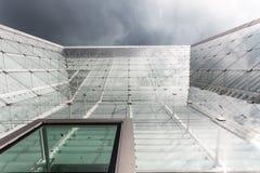 Parte anteriore di vetro di una costruzione Fotografia Stock