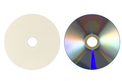 Parte anteriore e parte posteriore di Dvd Fotografia Stock Libera da Diritti