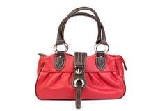 Parte anteriore rossa del sacchetto di cuoio Immagini Stock Libere da Diritti