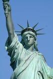 Parte anteriore superiore della statua di libertà fotografia stock libera da diritti