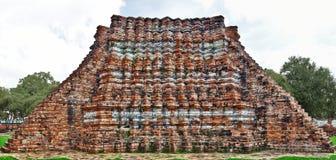 Parte arquitectónica antigua en el templo del lokayasutharam de Wat en Ayutt imagen de archivo libre de regalías