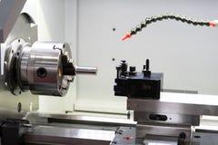 Parte automobilistica lavorante dal tornio di CNC Fotografia Stock