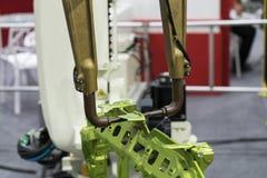 Parte automotriz de soldadura por el CNC Imagen de archivo libre de regalías