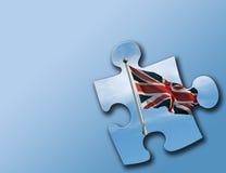 Parte britannica di puzzle sull'azzurro Fotografia Stock Libera da Diritti