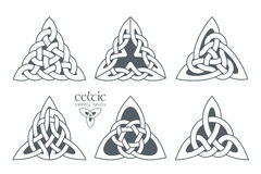 Parte céltica 2 del nudo de la trinidad del vector Ornamento étnico stock de ilustración
