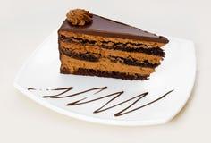 Parte caseiro do bolo de chocolate Imagem de Stock Royalty Free