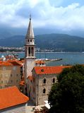 Parte central de la ciudad de Budva, Montenegro Imágenes de archivo libres de regalías