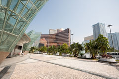Parte central de Macao moderno Imágenes de archivo libres de regalías