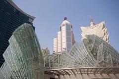 Parte central de Macao moderno Foto de archivo