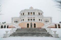 Parte central de uma mansão nobre antiga Propriedade Maryino, região de Kursk imagens de stock royalty free