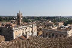 Parte central de una vista panorámica de Roma Foto de archivo