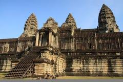 Parte central de wat del angkor Imagen de archivo libre de regalías