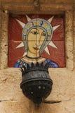 Parte cerâmica do altar fotografia de stock royalty free