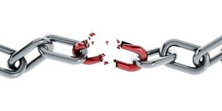 Parte chain quebrada ilustração royalty free