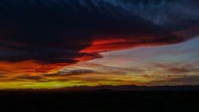 Parte cinco de la puesta del sol Foto de archivo
