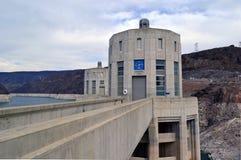Parte concentrare della diga di Hoover, Arizona Immagine Stock