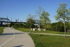 Parte concreta 3 43 del parco della pianta Fotografie Stock Libere da Diritti