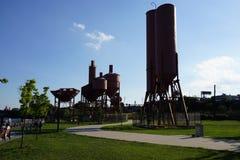 Parte concreta 2 18 del parque de la planta Fotos de archivo