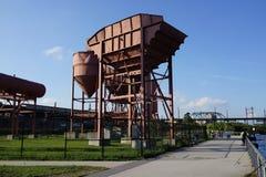 Parte concreta 2 25 del parque de la planta Imagen de archivo