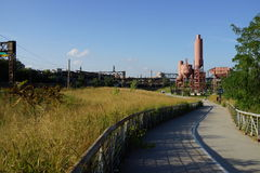 Parte concreta 2 91 del parque de la planta Fotos de archivo