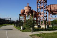 Parte concreta 3 3 del parque de la planta Fotografía de archivo