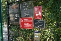 Parte concreta 3 84 del parque de la planta Imagen de archivo