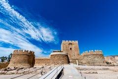 Parte cristiana del Alcazaba a Almeria & x28; Almeria Castle & x29; Fotografie Stock Libere da Diritti