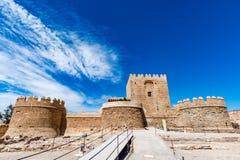 Parte cristiana del Alcazaba a Almeria & x28; Almeria Castle & x29; Immagine Stock