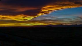 Parte cuatro de la puesta del sol Foto de archivo libre de regalías