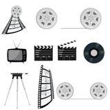 Parte cuatro del vector de la cinta de la película vieja Imágenes de archivo libres de regalías